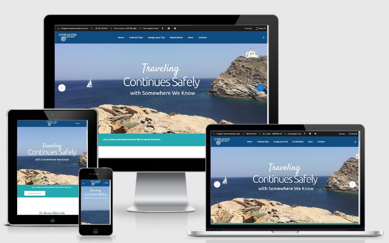 Κατασκευή Ιστοσελίδας | Διοργάνωση ταξιδίων Somewhere We Know